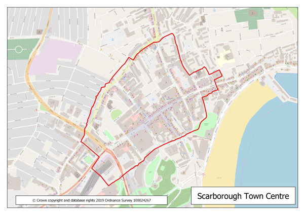 Scarborough town centre boundary