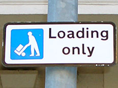 Loading bay sign.