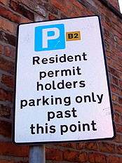 Residents only sign