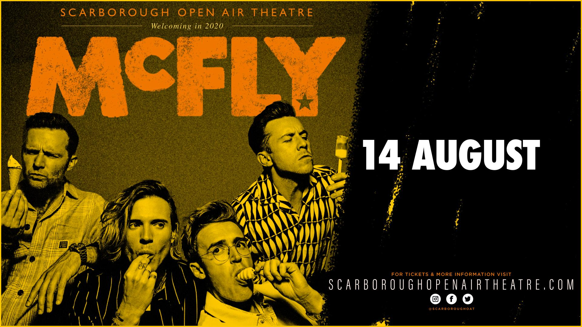 Promotional graphic for McFly gig