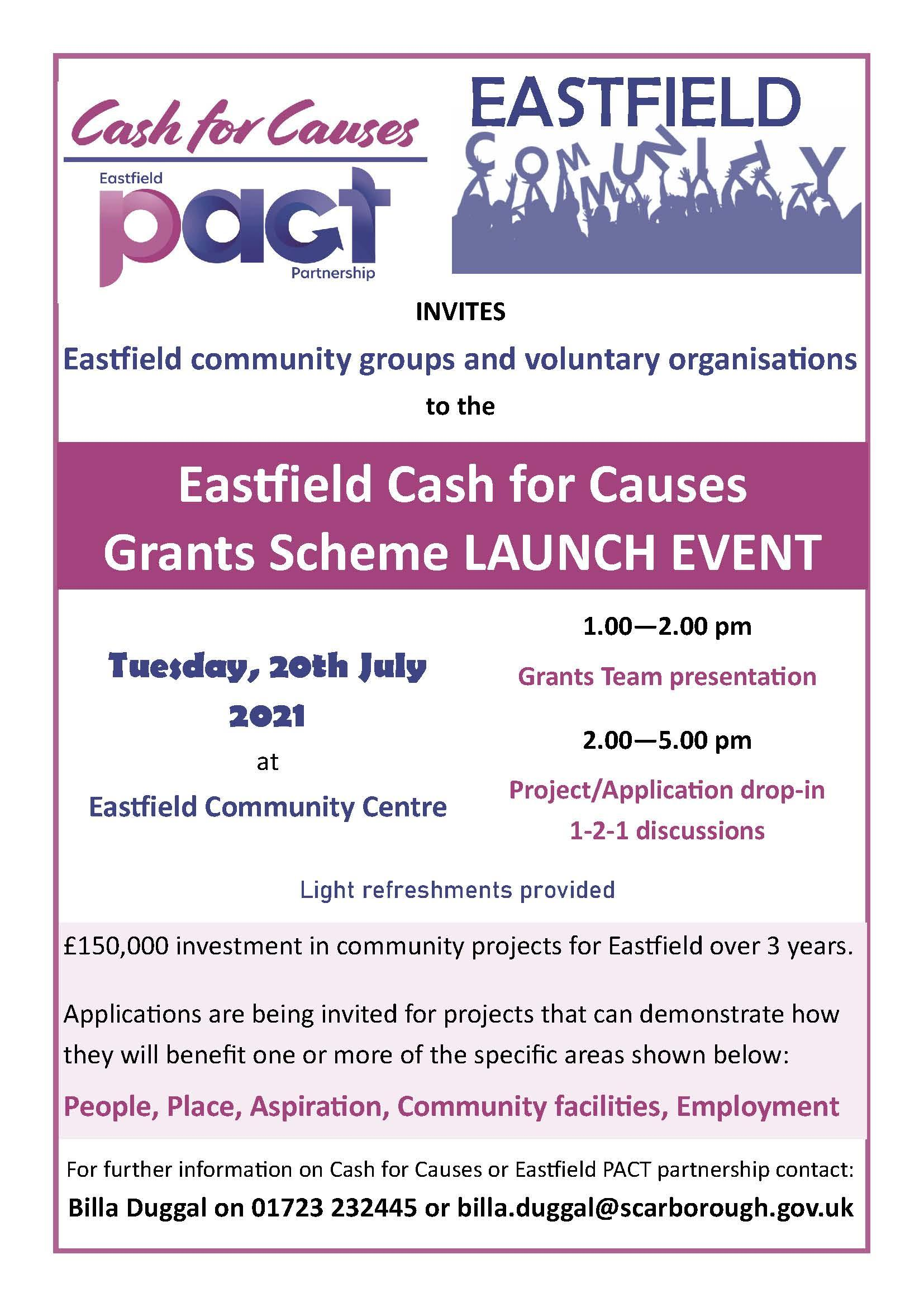 Cash 4 Causes launch poster