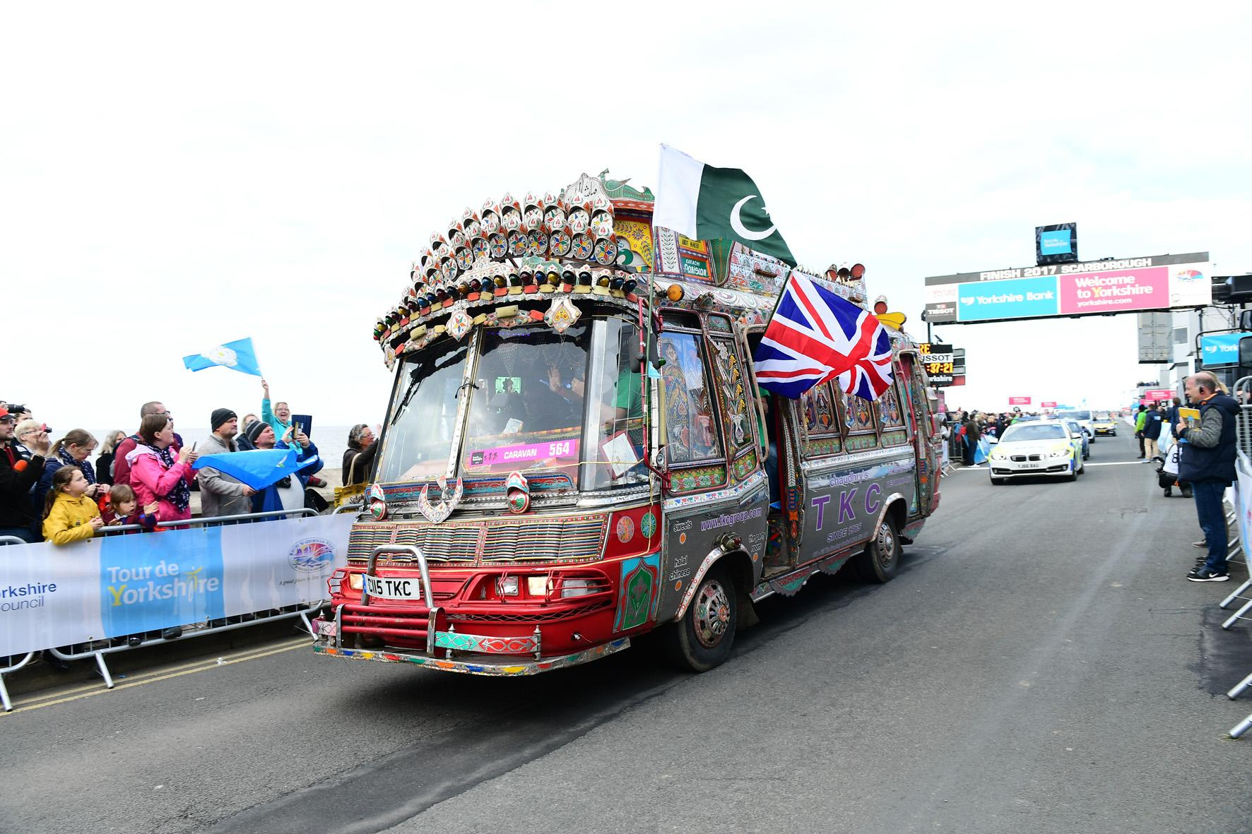 Picture of one of the vehicles in the 2017 Tour de Yorkshire caravan