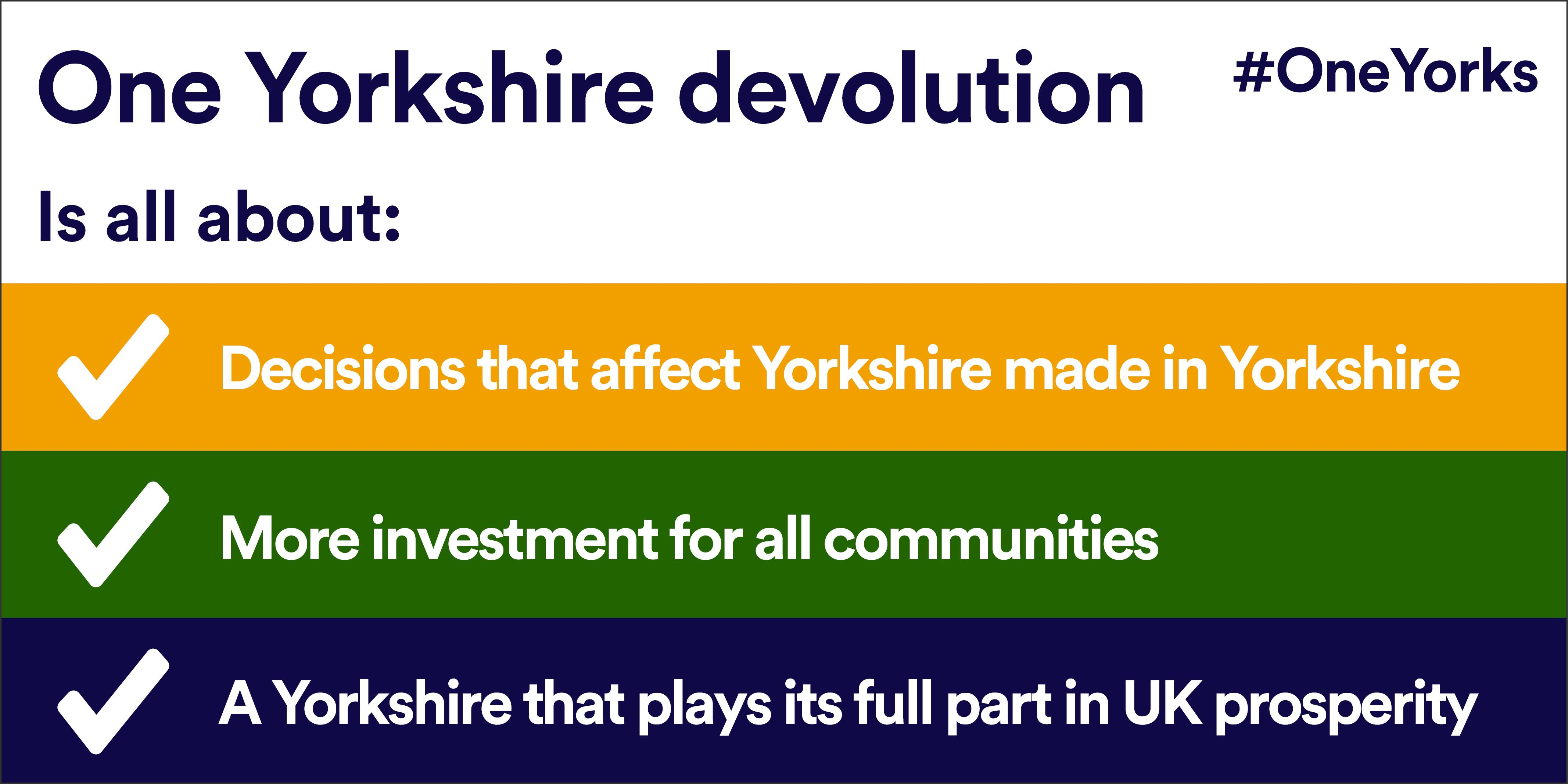 Infographic about One Yorkshire devolution