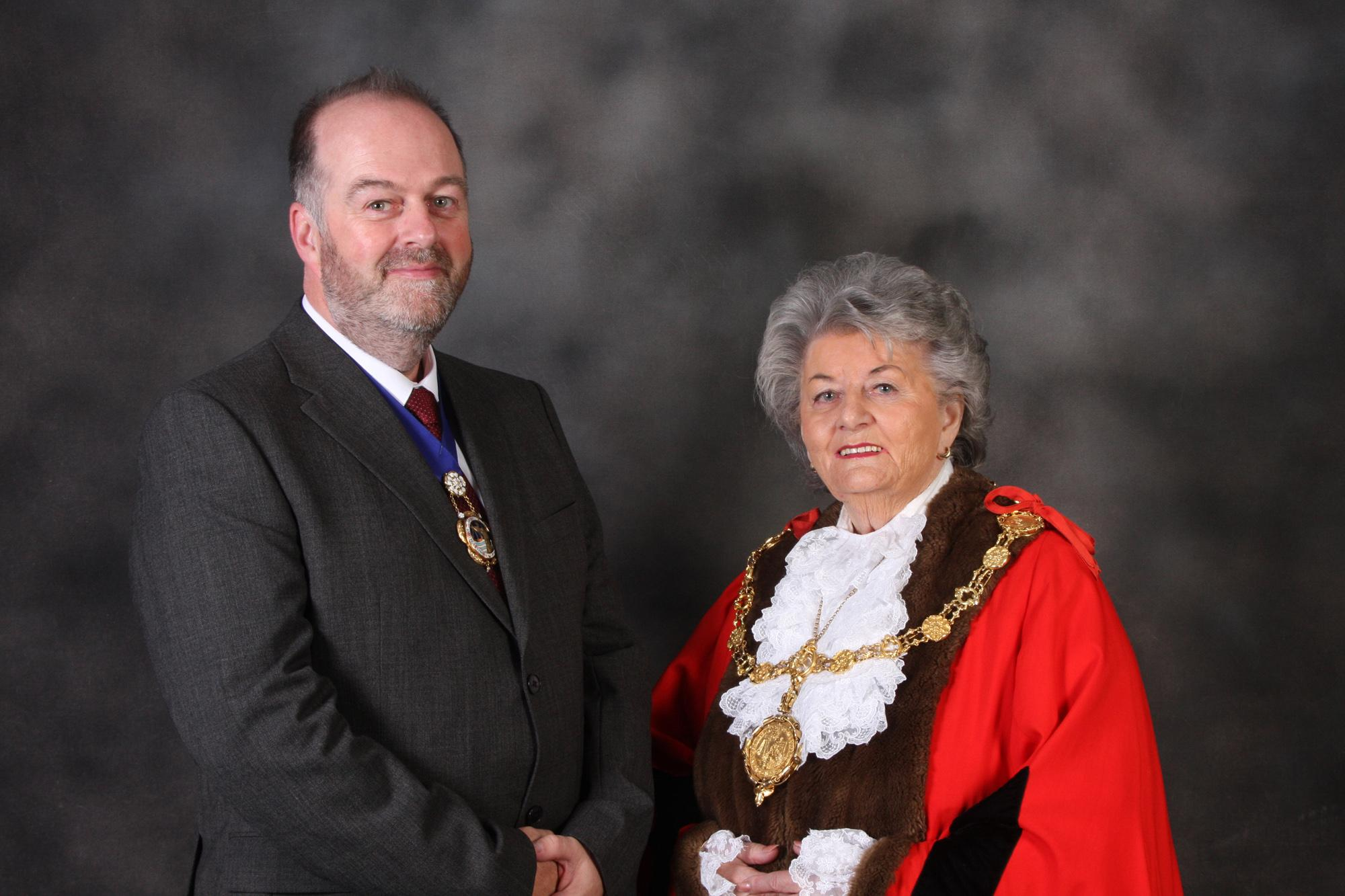 Picture of the Mayor and Consort of the Borough of Scarborough for 2019 to 2020, Cllr Hazel Lynskey and Mr Michael Lynskey