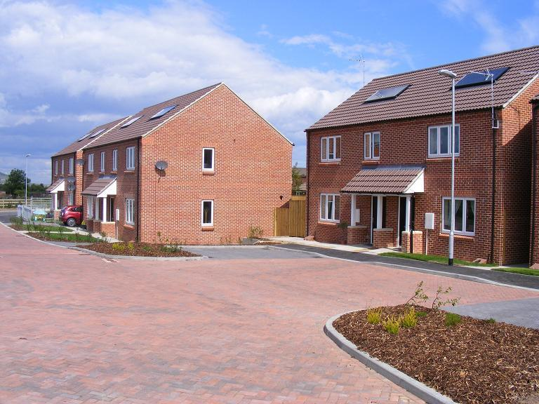 A picture of a previously completed affordable housing scheme in Hinderwell