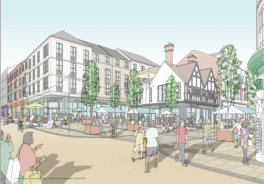 An artist's impression of how St Helens Square could look