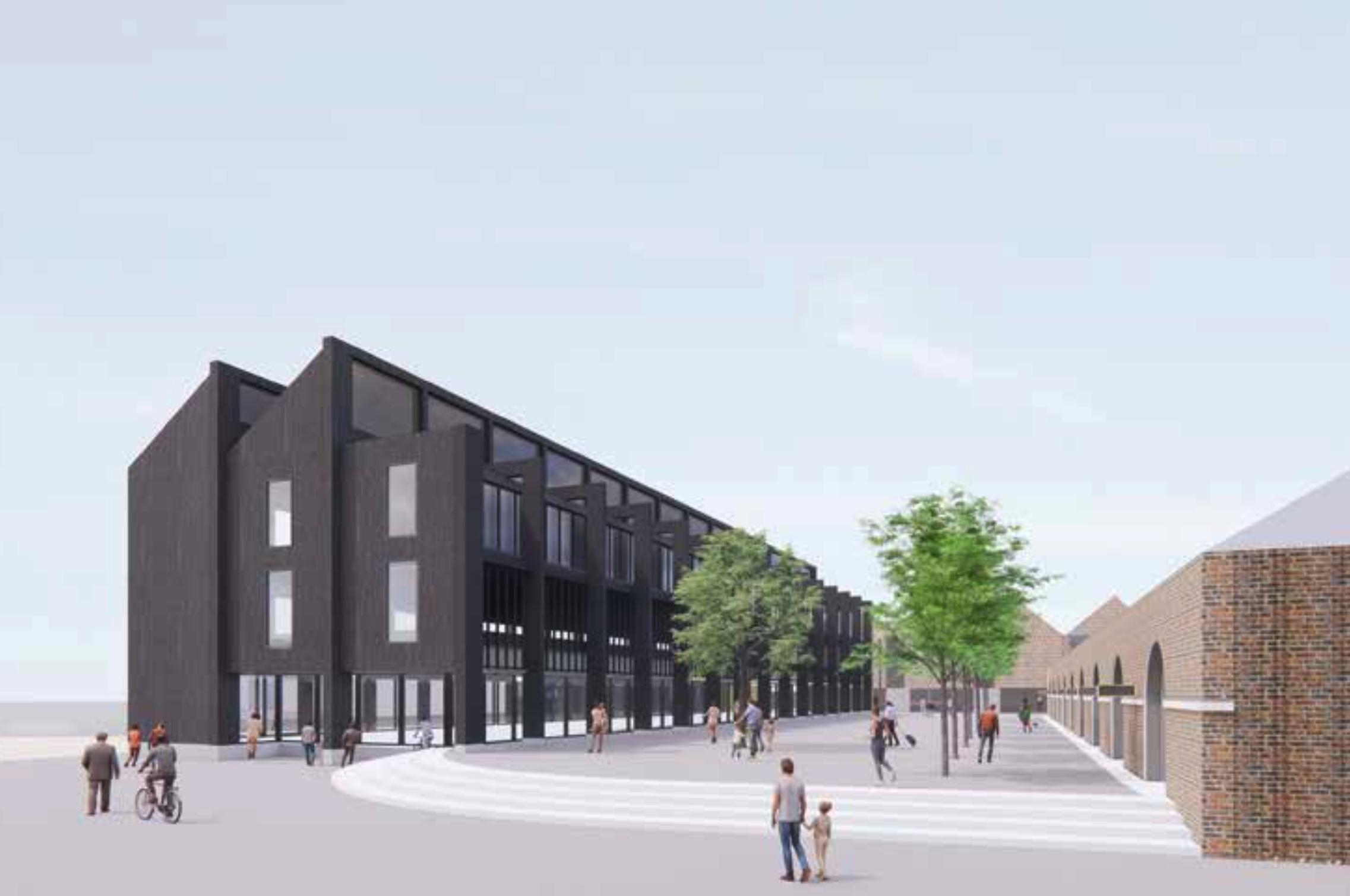 An artist's impression of the proposed use of the former Comet building site