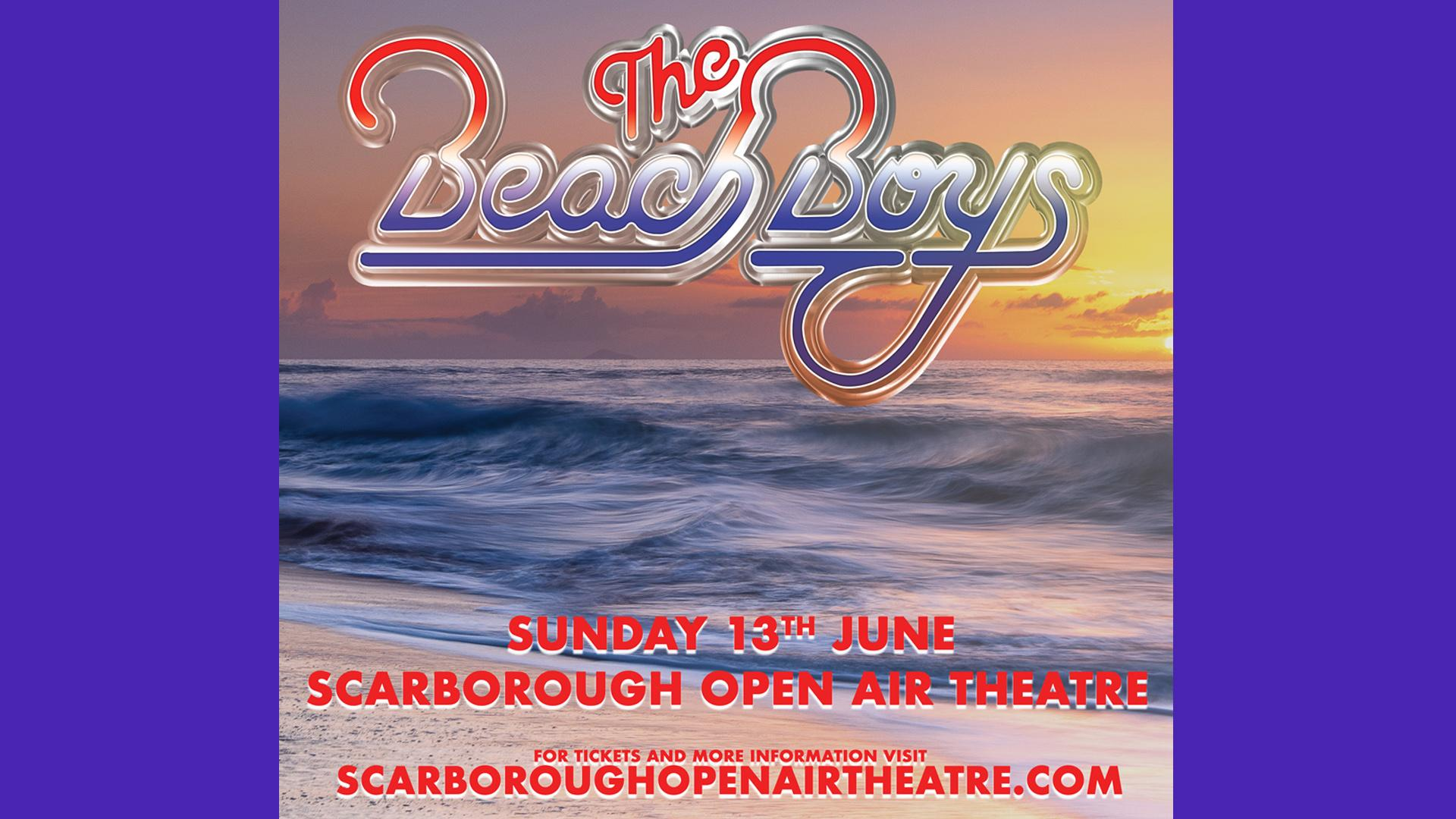 Promotional image for Beach Boys show at Scarborough Open Air Theatre