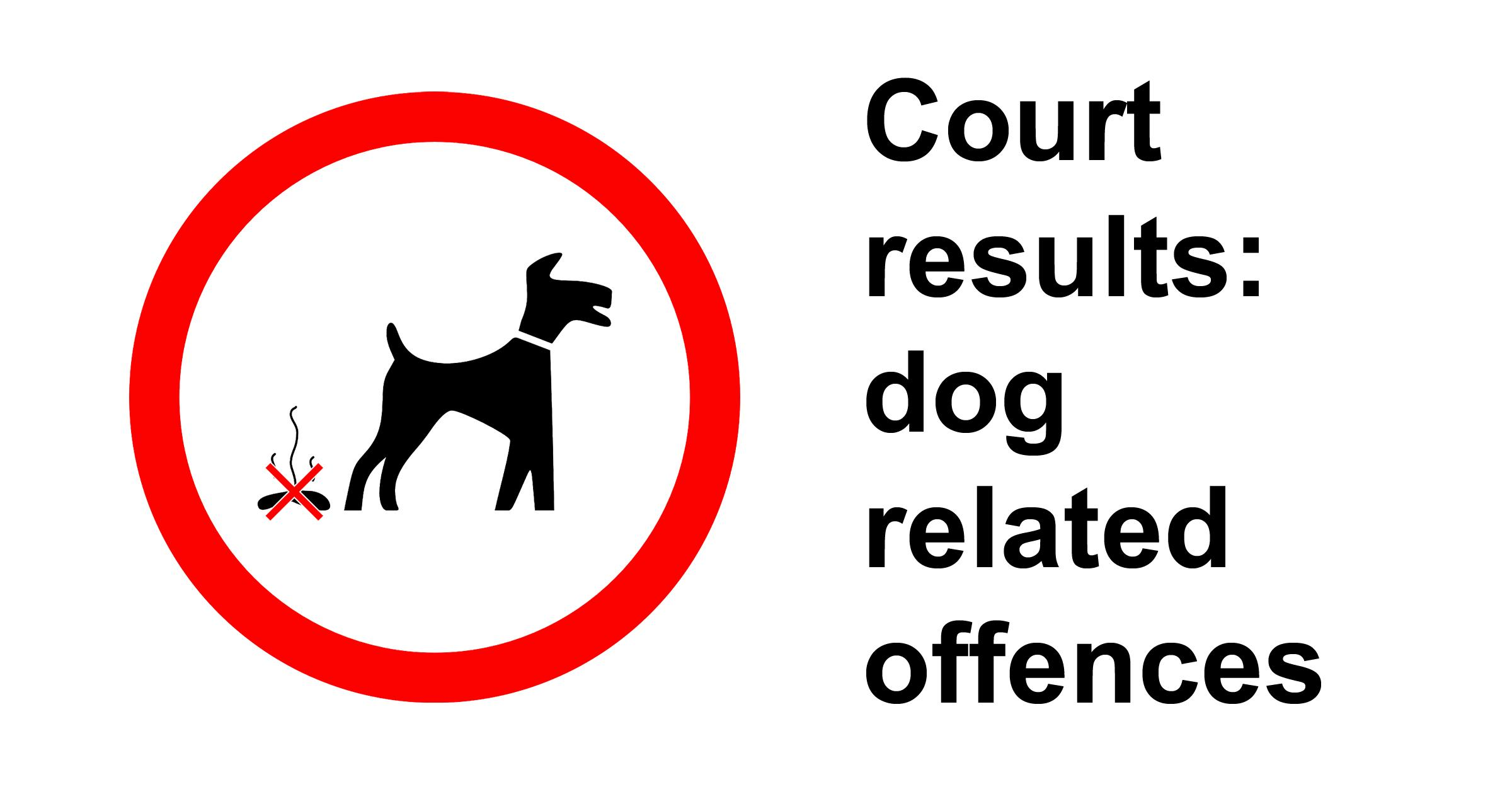 Graphic to illustrate dog related offences