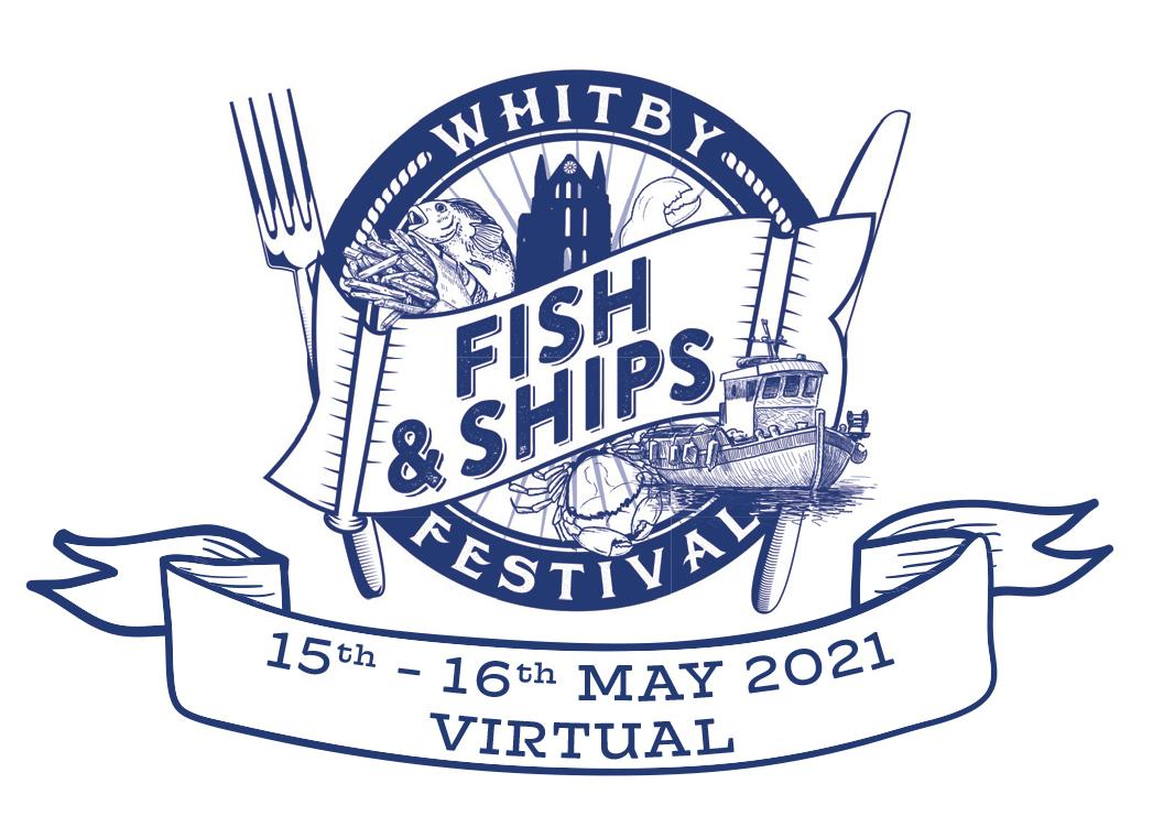 Logo of 2021 virtual Whitby Fish and Ships Festival