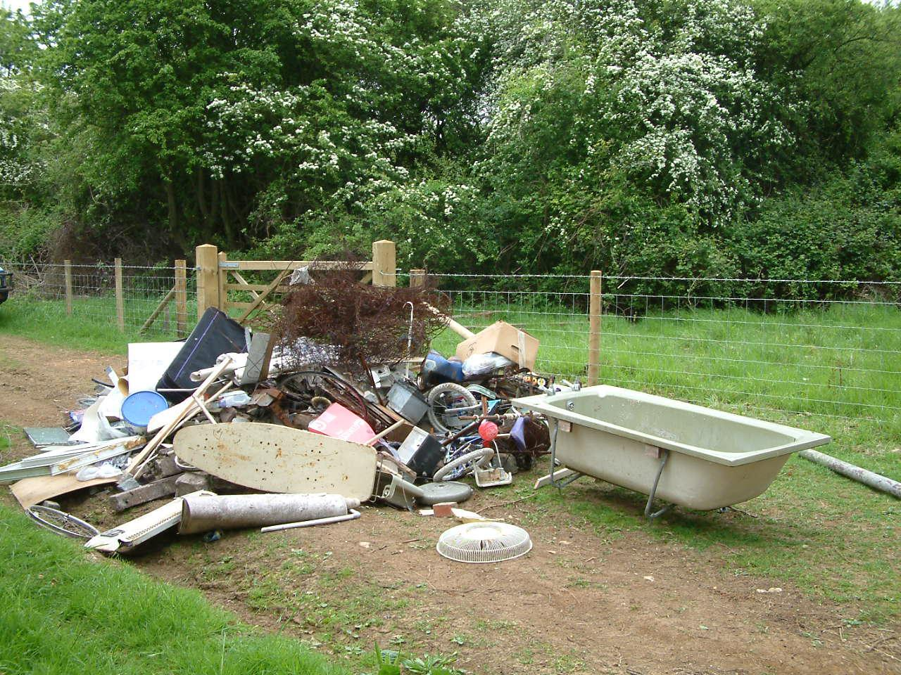 Picture of fly tipping courtesy of Natural England