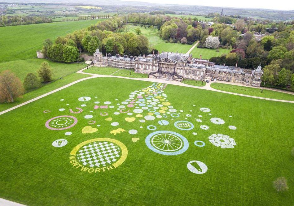 Picture of land art at Wentworth Woodhouse, which won the 2018 Land Art Competition