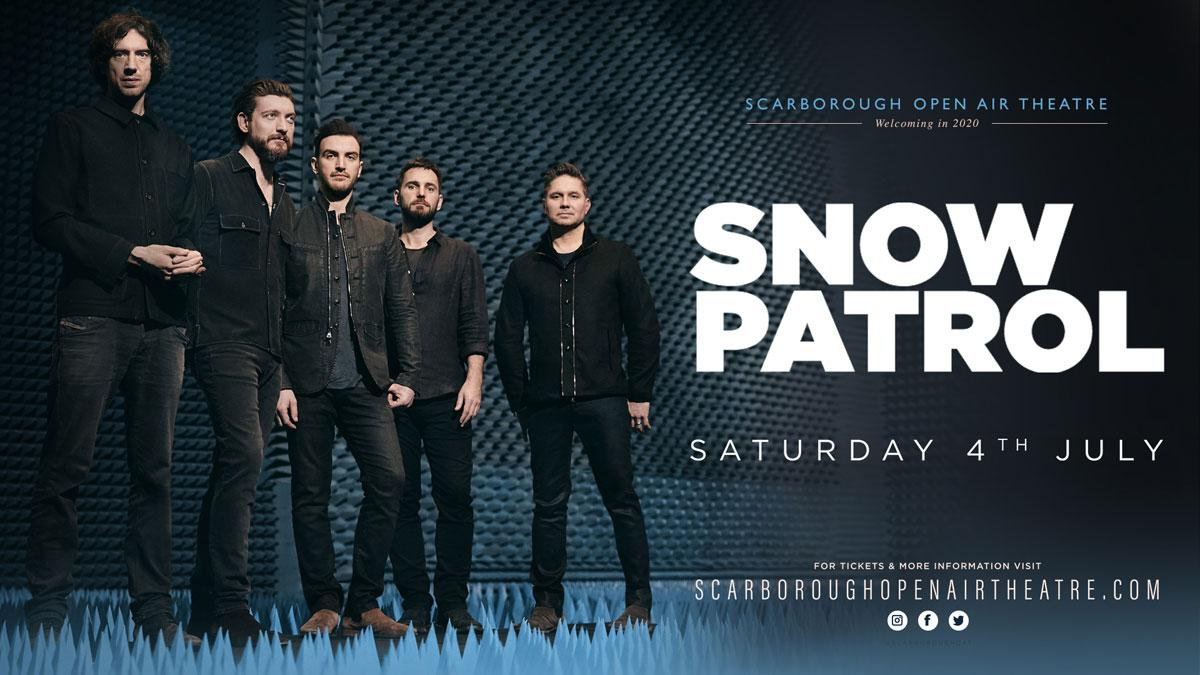 Promotional graphic for Snow Patrol show at Scarborough OAT