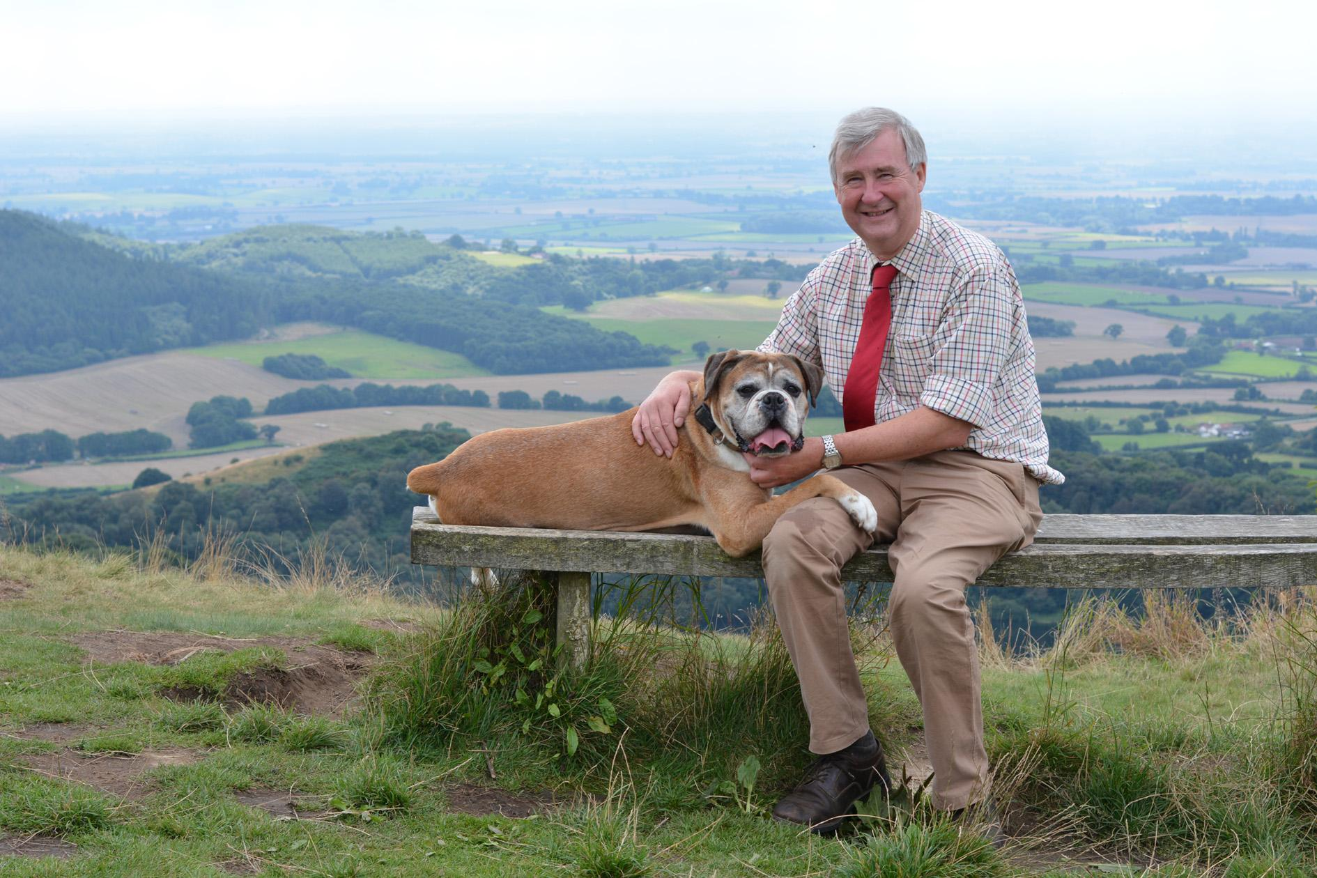 Picture of Peter Wright, star of the Channel 5 programme - The Yorkshire Vet. Credit: Channel 5, Daisybeck Studios