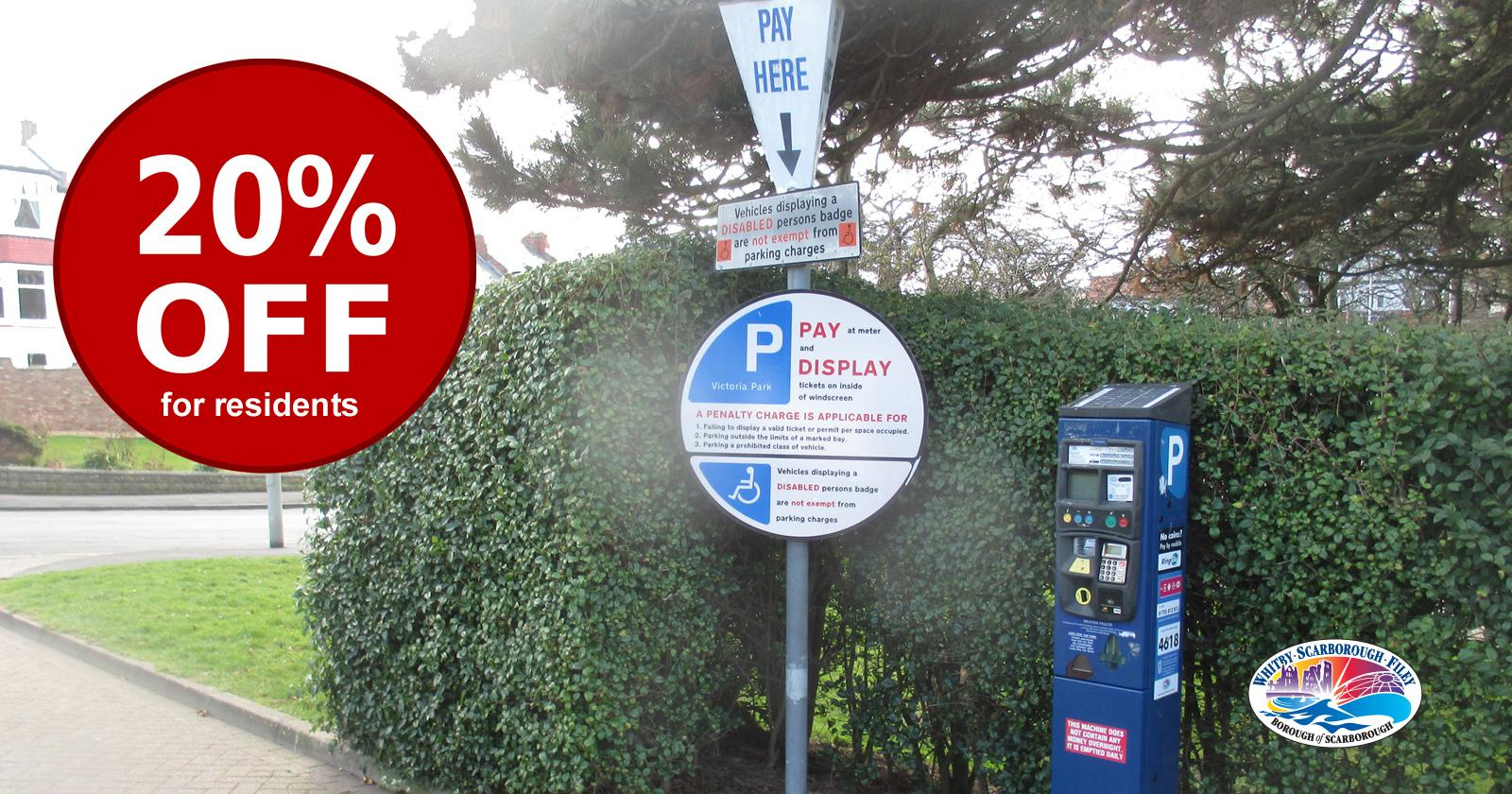 Picture to illustrate 20% discount for residents in off street car parks