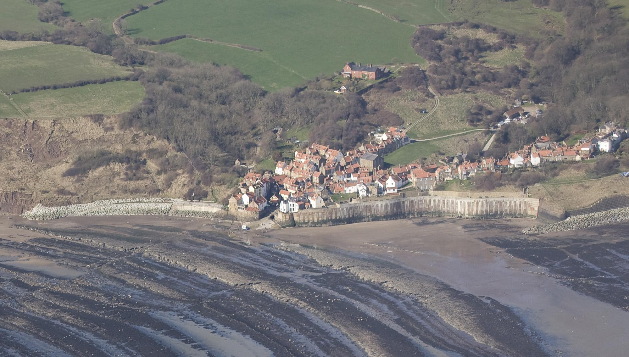 Aerial image of Robin Hood's Bay by North East Coastal Observatory