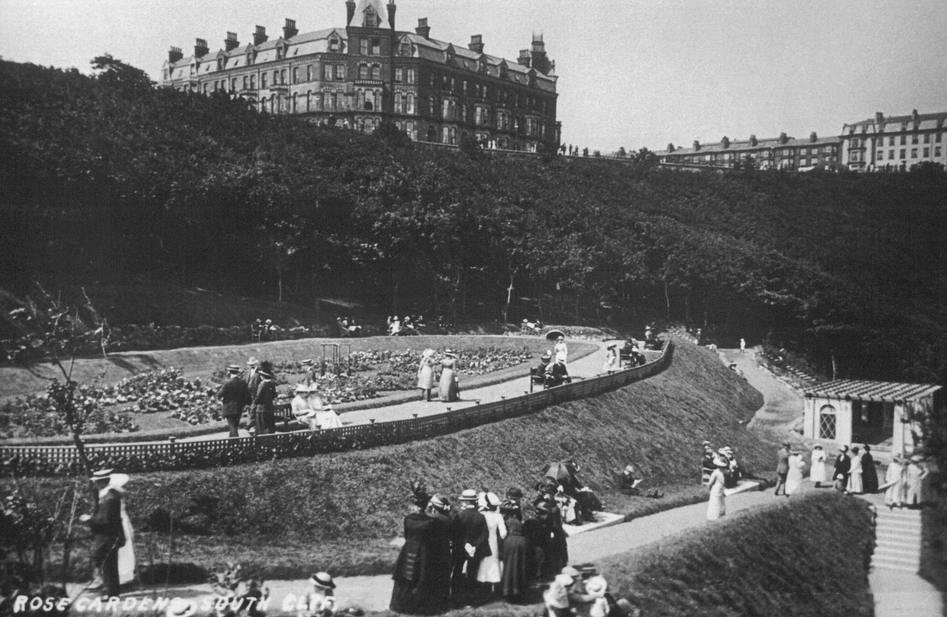 Historic picture of the Rose Garden in South Cliff Gardens, Scarborough