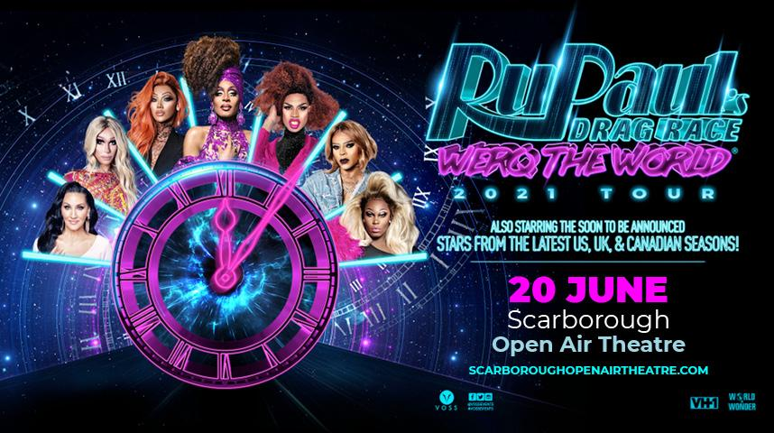 Promotional graphic for RuPaul's Drag Race: Werq The World Tour