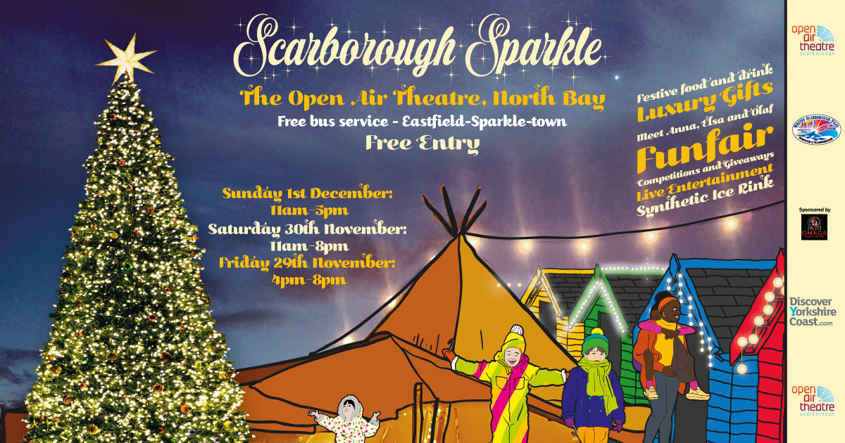 Promotional graphic for Scarborough Sparkle