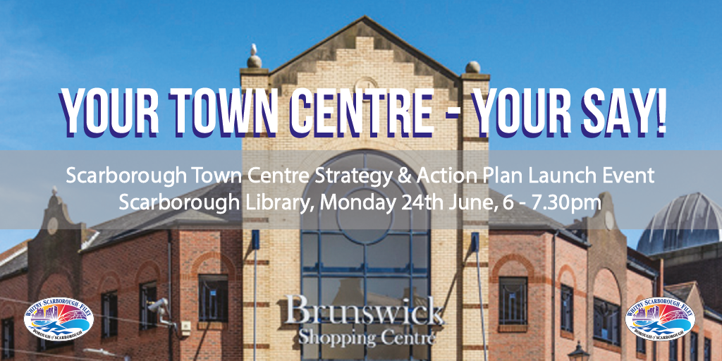 Graphic promoting Town Centre Strategy launch event
