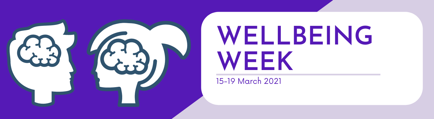 Promotional graphic for wellbeing week