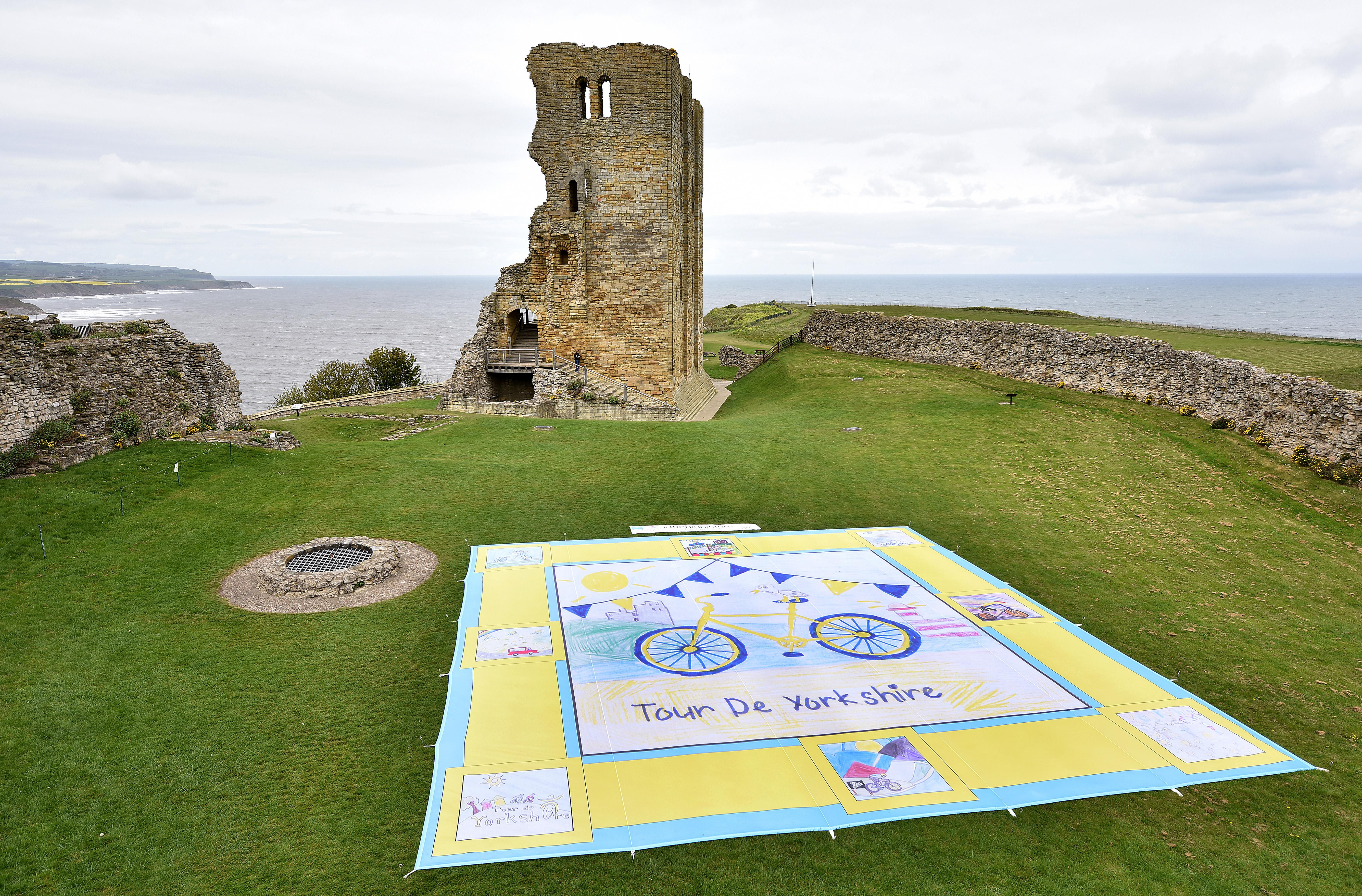 Image of The Big Picture land art in the grounds of Scarborough Castle
