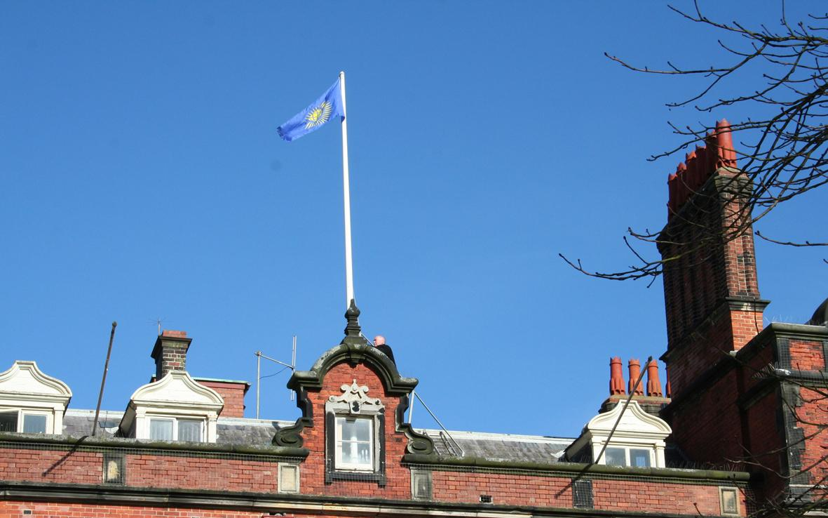 Picture of Commonweath Flag flying above Scarborough Town Hall in 2017