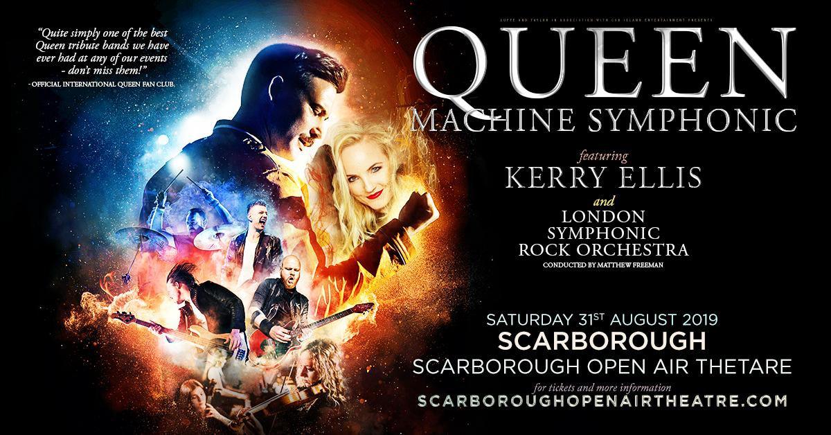 Graphic to promote Queen Machine Symphonic show