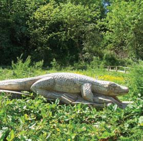 A crocodile sculpture at Quarry Mount park